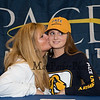 Maureen Kennedy came to support her daughter Elizabeth as Elizabeth signs a letter of intent to swim with the Blue and Gold Setters of Pace University of Westchester NY in their DII program in the Fall of 2019, on WHS's student athlete signing day on Wednesday 5-22-2019 @ WHS.  Matt Parker Photos