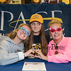 Winnacunnet's Elizabeth Kennedy with her friends Lauren Roughsedge (L) and Lainie Renaud (R) came to support Elizabeth as she signs a letter of intent to swim with the Setters of Pace University of Westchester NY in their DII program in the Fall of 2019, on WHS's student athlete signing day on Wednesday 5-22-2019 @ WHS.  Matt Parker Photos