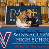 Maureen Kennedy came to support her daughter Elizabeth as Elizabeth signs a letter of intent to swim with the Setters of Pace University of Westchester NY in their DII program in the Fall of 2019, on WHS's student athlete signing day on Wednesday 5-22-2019 @ WHS.  Matt Parker Photos
