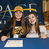 Winnacunnet's Elizabeth Kennedy with her friendKendra Hammond who came to support Elizabeth as she signs a letter of intent to swim with the Setters of Pace University of Westchester NY in their DII program in the Fall of 2019, on WHS's student athlete signing day on Wednesday 5-22-2019 @ WHS.  Matt Parker Photos