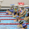 Winnacunnet swim team members fill the lanes during Wednesday's Boys and Girls practice at the Roger A. Nekton Championship Pool @ PEA on 11-30-2016.  Matt Parker Photos
