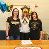Abby Merrill with sister Hayley and Mom Liz pose for a photo after signing a letter of intent to play Women's Field Hockey in the Fall of 2017 for the Mountaineers of Appalachian State University, Boon, NC  on Wednesday 11-9-2016 @ WHS.  Matt Parker Photos