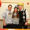 Meg Dzialo with parents Lindsay and Eric Beaulieu pose for a photo at WHS college signing day with Meg signing with the Warriors of Merrimack College, North Andover, MA with the intent to play Woman's Lacrosse in the Fall of 2017 on Wednesday 11-9-2016 @ WHS.  Matt Parker Photos