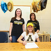 Abby Merrill with sister Hayley and Mom Liz pose for a photo while signing a letter of intent to play Women's Field Hockey in the Fall of 2017 for the Mountaineers of Appalachian State University, Boon, NC  on Wednesday 11-9-2016 @ WHS.  Matt Parker Photos