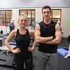 Winnacunnet Junior Caitlin Capezzuto and Senior Phillip Antonio pose for a photo at the Winnacunnet Workout Room prior to Wednesday's bus trip to the scheduled team practice at UNH on 12-7-2016 @ WHS.  Matt Parker Photos