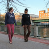 Winooski Falls, Champlain Mill Path, with Melissa Buckley and Quinn Parker at Winooski VT on Saturday 4-31-2016.  Matt Parker Photos