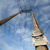 Elecric lines at the Winooski One Hydro Electric and dam at Winooski Falls, Winooski Vermont on Saturday 4-31-2016.  Matt Parker Photos