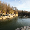 Down stream from Winooski One Hydro Electric at Winooski Falls, Winooski Vermont on Saturday 4-31-2016.  Matt Parker Photos