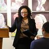Lurenza McGhee speaks at the 2016 Juanita Bell Memorial Scholarship recipient Stephen Reid of York High School at the Seacoast African American Cultural Center on Sunday 6-12-2016, Portsmouth, NH.  Matt Parker Photos