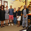 The Women's Ministry Choir of New Hope Baptist Church sang 2 songs during the presentation of the 2016 Juanita Bell Memorial Scholarship. (L to R) Beverly James, Freddye Ross, Michelle Lessard, award recipient Stephen Reid and his Mom Paula Reid, Natalie White, Rose Clark and piano player Royaline Edwards at the Seacoast African American Cultural Center on Sunday 6-12-2016, Portsmouth, NH.  Matt Parker Photos