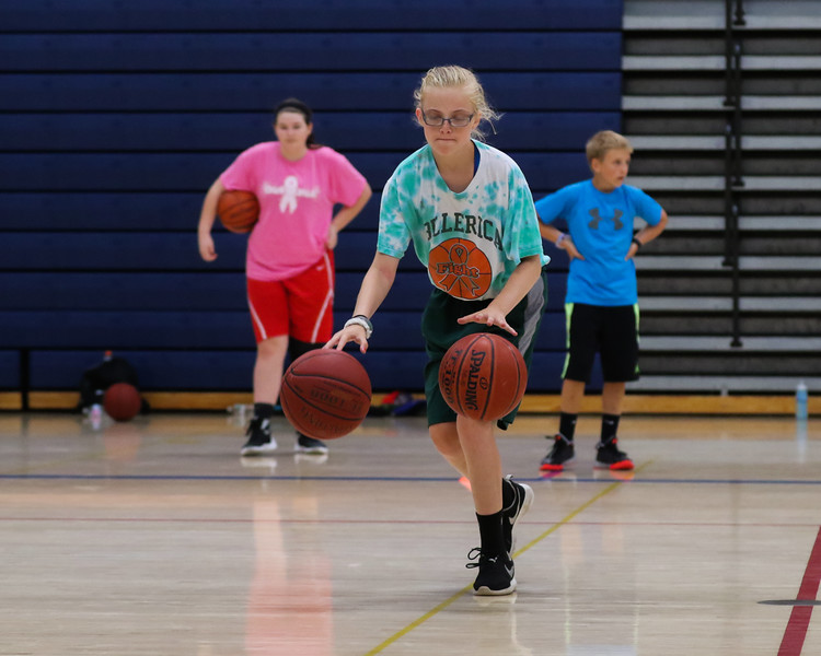 Micayla Gildea of Billerica MA who vacations in the seacoast area likes the change of pace the hoop camp offers on Tuesday at the Winnacunnet Warrior Summer Hoop Camp on 7-12-2016 @ WHS. Matt Parker Photos