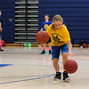 Riley Kerens concentrates while dribbling two basketballs on Tuesday at the Winnacunnet Warrior Summer Hoop Camp on 7-12-2016 @ WHS. Matt Parker Photos
