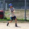 6th grader Andrew Kaputa connects with the ball for a hit during the 26th Annual Bruce Joyce's Granite State Baseball School on Tuesday 7-26-2016 at Exeter High School.  Matt Parker Photos