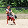 Camden MacNeil keeps his glove on a ground ball during the 26th Annual Bruce Joyce's Granite State Baseball School on Tuesday 7-26-2016 at Exeter High School.  Matt Parker Photos