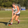 Winnacunnet's Junior Field Hockey Captain Isobel Sargent works the ball down the field during Tuesday's Practice on 8-23-2016 at WHS.  Matt Parker Photos