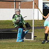 Winnacunnet's Sophmore Goal Keeper Nikki Tredwell deflects a shot by Courtney Ingham at Tuesday's Practice on 8-23-2016 at WHS.  Matt Parker Photos