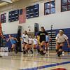 Winnacunnet Girls Volleyball Assistant Coach George Sullivan watches as the team runs a workout drill during Monday's practice on 8-29-2016 @ WHS.  Matt Parker Photos
