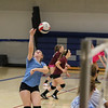 Winnacunnet Sophmore Molly Maynard spikes the ball during Monday's Girls Volleyball practice on 8-29-2016 @ WHS.  Matt Parker Photos