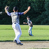 A Seacoast U11 player fileds the ball while the cuttoff player calls for the throw during practice on Tuesday 7-12-2016 at Governor Weare Field in Hampton Falls, in preparation for the Cal Ripken State Tournament in Keene this coming weekend.  Matt Parker Photos
