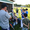 Seacoast U11 players take a break from Tuesday's practice in preparation for the Cal Ripken State Tournament on 7-12-2016 @ Governor Weare Field, Hampton Falls, NH.   Matt Parker Photos