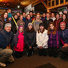 Coach Dana Babyak (rt. front) and assistant coach Richard Luff (L fr.) pose with the 2017/2018 Winnacunnet Cross Country Skiing Team on Wednesday 12-13-2017 @ Sagamore Hampton Golf Club, N. Hampton, NH.  Matt Parker Photos