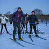 Winnacunnet Senior Dana Sher leads a group of skiers into the lodge at Wednesday's Cross Country Skiing Workout on 12-13-2017 @ Sagamore Hampton Golf Club, N. Hampton, NH.  Matt Parker Photos