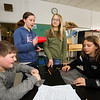 The Hampton Academy 6th, 7th and 8th grade STEM class with guidance by  UNH students design and build a capsule to protect a raw egg from a 2 story drop onto the parking lot on Tuesday 2-21-2017 @ Hampton Academy Junior High.  Matt Parker Photos