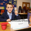 Wax sculpture Thomas Alva Edison AKA James Grugnale an American inventor 3rd Grade Wax Museum on Friday 2-3-2017 @ Marston School, Hampton, NH.  Matt Parker Photos