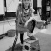 Wax sculpture Sacagawea AKA Camryn Morrissey who helped the Lewis and Clark Expedition explore the lands which lead to the Louisiana Purchase at the Marston School 3rd Grade Wax Museum on Friday 2-3-2017 @ Marston School, Hampton, NH.  Matt Parker Photos