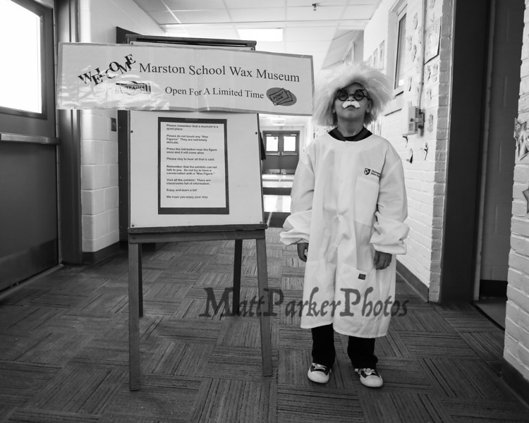 Marston School 3rd Grade Wax Museum on Friday 2-3-2017 @ Marston School, Hampton, NH.  Matt Parker Photos
