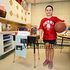 Wax sculpture Basketball star Lebron James AKA Kaila Roy  at the Marston School 3rd Grade Wax Museum on Friday 2-3-2017 @ Marston School, Hampton, NH.  Matt Parker Photos