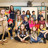 Marston School 3rd Grade Teacher Gretchin Aviles (Red Sox jersey) and her 3rd grade class at the Marston School 3rd Grade Wax Museum on Friday 2-3-2017 @ Marston School, Hampton, NH.  Matt Parker Photos