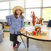 Wax sculpture Annie Oakley AKA Phoebe Ann Mosey AKA Lillli Girard with her horse at the Marston School 3rd Grade Wax Museum on Friday 2-3-2017 @ Marston School, Hampton, NH.  Matt Parker Photos