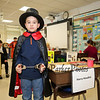 Wax sculpture Harry Houdini AKA Curran Drolette performing feats of magic and escape at the Marston School 3rd Grade Wax Museum on Friday 2-3-2017 @ Marston School, Hampton, NH.  Matt Parker Photos