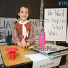 Wax sculpture Ruby Bridges AKA Lucy Gelbstein is an American activist known for being the first black child to desegregate the all-white William Frantz Elementary School in Louisiana in 1960 at the Marston School 3rd Grade Wax Museum on Friday 2-3-2017 @ Marston School, Hampton, NH.  Matt Parker Photos