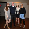 Winnacunnet's Girls Basketball Freshman Coach Frank Healey with Winnacunnet Senior Girls, (L to R) Danielle Boucher, Emily Britton, and Kaya Cadagan during the Girls Basketball Season Banquet at the Seaglass Restaurant & Lounge, Salisbury, MA. on Thursday, 3-16-2017.  Matt Parker Photos
