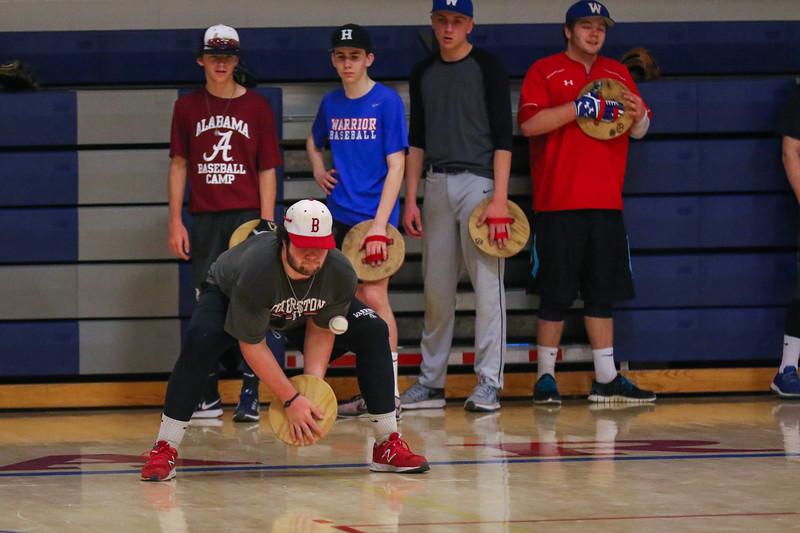 Winnacunnet Baseball at preseason practice on Wednesday 3-22-2017 @ WHS.  Matt Parker Photos