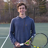 WHS Senior Max King poses for a photo at Tuesday's Winnacunnet's Boys Tennis practice on 4-18-2017 @ WHS.  Matt Parker Photos