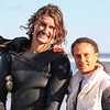 Quinn Parker and his Mom Lisa after Surfing at North Hampton State Park on Sunday 4-2-2017. Matt Parker Photos