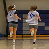 WHS sophmores and twin sisters Ali and Keelyn McNamara play for the WHS Girls Lacrosse team at Wednesday's practice on 4-26-2017 @ WHS.  Matt Parker Photos