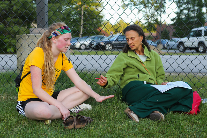 Lisa and Lydia at the Seacoast Ultimate Frisbee Yellow vs Teal on Wednesday 6-14-2017 @ CMS.  Matt Parker Photos