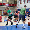 """Dribble Tag"" goes down to two players Mira Franzoso and Jack Hogan as they manoeuver around each other to knock the ball away at the Warrior 6-8th grade Hoop Camp on Wednesday with Coach Jay McKenna and Warrior Basketball players on 6-28-2017 @ WHS.  Matt Parker Photos"