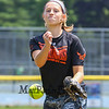 Seabrook 7th grader Sadie Dorman throws a pitch during a photo shoot and interview where she talks about how she the made the final cut to become a member of the Northeast Regional U12  Girls Softball Team to compete in the Nationals this Summer, photos taken on Tuesday 7-12-2017 @ Tuck Field, Hampton, NH.  Matt Parker Photos