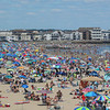 The Hampton Beach Wrestling Tournament was held on a crowded Sunday on the sand at Hampton Beach sponsored by the Winacunnet Wrestling team on 7-30-2017 @ Hampton Beach, NH.  Matt Parker Photos
