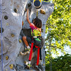 4th grader Aurelius Curro reaches for the top of the rock wall at the Lane Library Summer Reading Kick off EVO Rock Wall and Frozen Tee Shirt events on Wednesday 7-5-2017 @ Centre School, Hampton, NH.  Matt Parker Photos