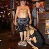Desi Lanio of the 401 Tavern weighs-in at 249 pounds as recorded by weigh-in official Ashley Mersfelder of Barrington, NH with John Nyhan, President of Experience Hampton verifying for the August weight loss challenge to benefit the Hampton Christmas Parade on Tuesday August 1st, 2017 at the 401 Tavern, Hampton, NH.  Matt Parker Photos