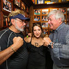 Desi Lanio of the 401 Tavern (L) and John Nyhan, President of Experience Hampton (R) pose for a photo with Ashley Mersfelder of Barrington, NH the official who supervised the weigh-ins for the weight loss challenge to benefit the Hampton Christmas Parade on Tuesday August 1st, 2017 at the 401 Tavern, Hampton, NH.  Matt Parker Photos