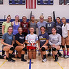 "The Winnacunnet Girls varsity Volleyball team poses for a photo with Head Coach, ""Life is good"" Lori Garand at Monday's preseason practice on 8-21-2017 @ WHS.  Matt Parker Photos"