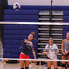 Senior Rori Reed puts the ball over the net at Monday's Winnacunnet Girls Volleyball preseason practice on 8-21-2017 @ WHS.  Matt Parker Photos