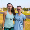 Winnacunnet's Girls Senior Captains McKenzy Wall and Jenny Long pose for a photo at Monday's preseason Girls Cross Country workout at WHS on 8-21-2017.  Matt Parker Photos